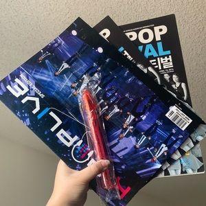 KPOP MAGAZINES W/ CL HELLO BITCHES TOUR LIGHTSTICK